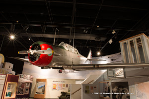 A WW II fighter plane from the Tempe museum.