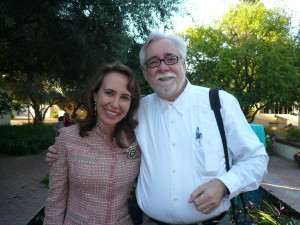 Daniel Buckley with Congresswoman Gabrielle Giffords in 2009.